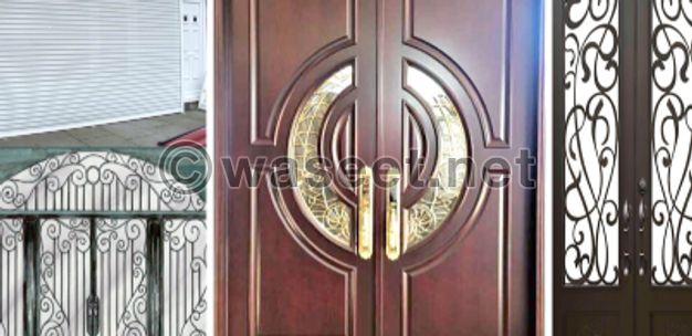 أبواب الحديد الألومينيوم
