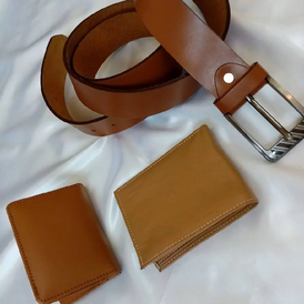 Multiple sizes and colors of belts and buckles
