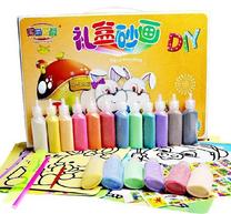 ألعاب الرسم بالرمال الملونة