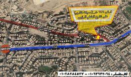 ارض 696 م للبيع علي شارع المقطم