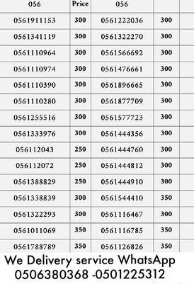 Etisalat Triple Network 056 numbers