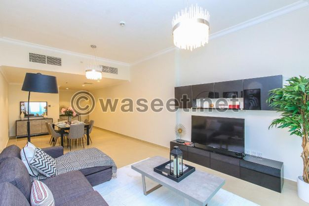 استلم شقة غرفتين وصالة في أرقى برج في عجمان