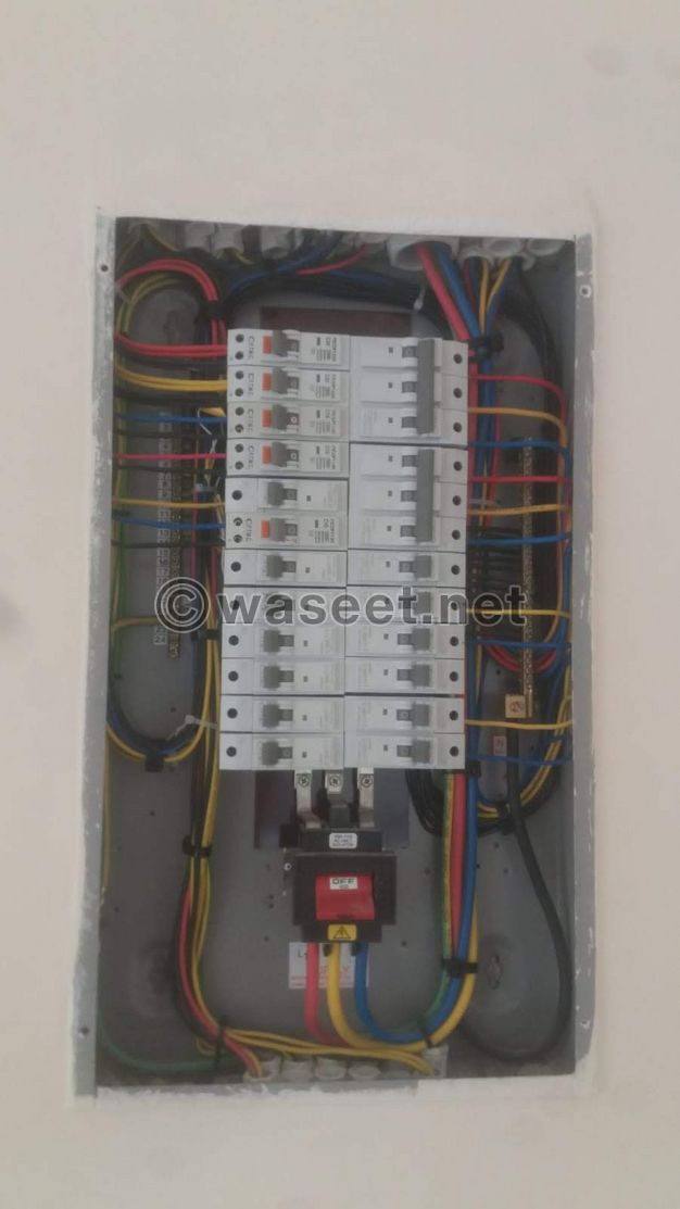 Electricity works, delivery of villas, data and lighting works, installation of accessories