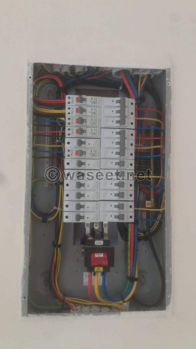 اعمال الكهرباءوتسليم الفلل كهرماء واعمال الداتا والستالايتوالانارة وتركيب الإكسسوارات