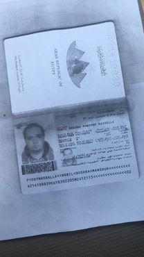 جوز سفر باسم نبيل بشري منصور