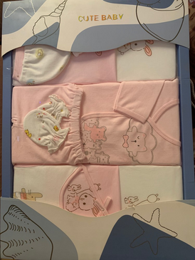 New, unopened, big box, new born gift, 12 pieces, 100 cotton/. 6