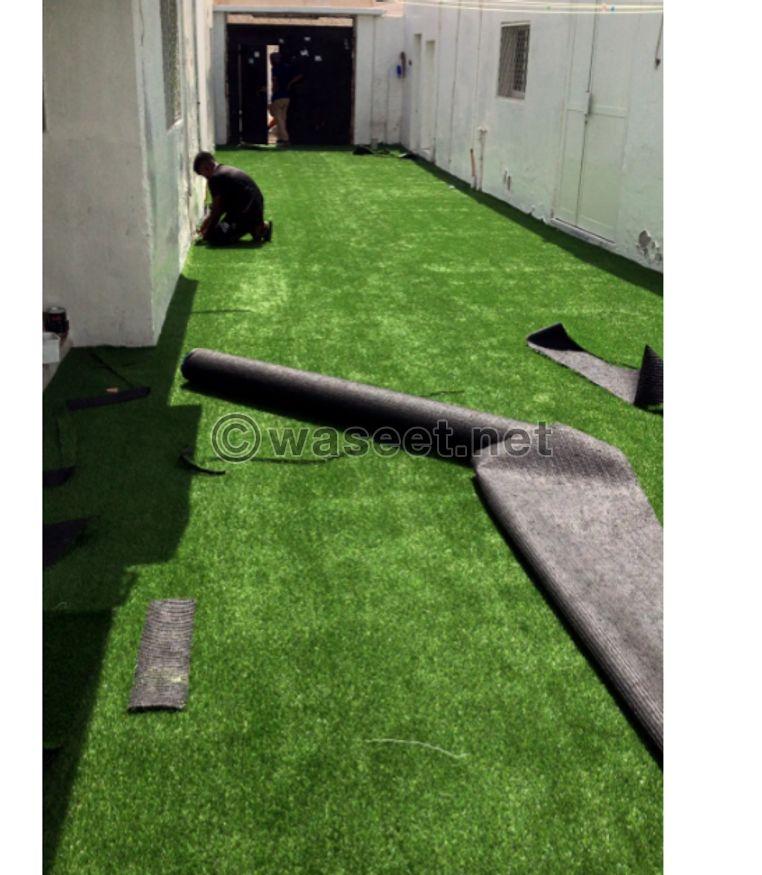 تركيب جميع انواع العشب الصناعي 0