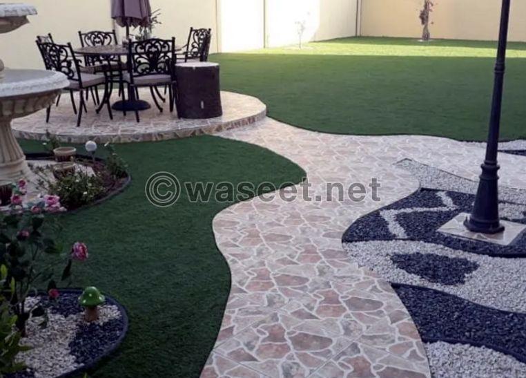 تركيب جميع انواع العشب الصناعي 2