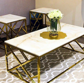 Iron and marble tables are tailored 2