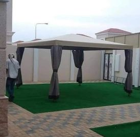 Implement all wooden awnings 14