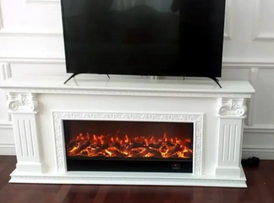fireplace decoration TV stand