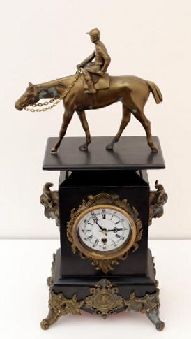 An old bronze clock