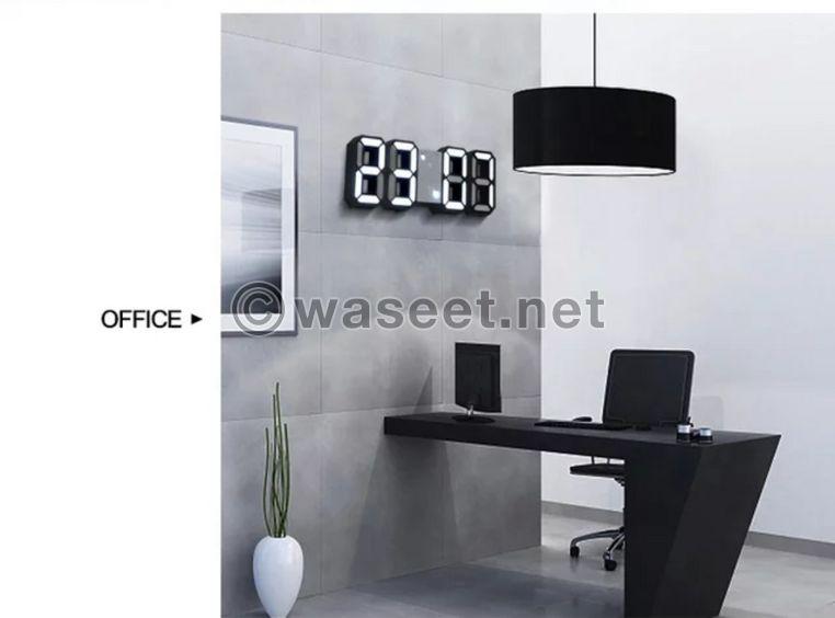 ساعة تلاثية الابعد LED