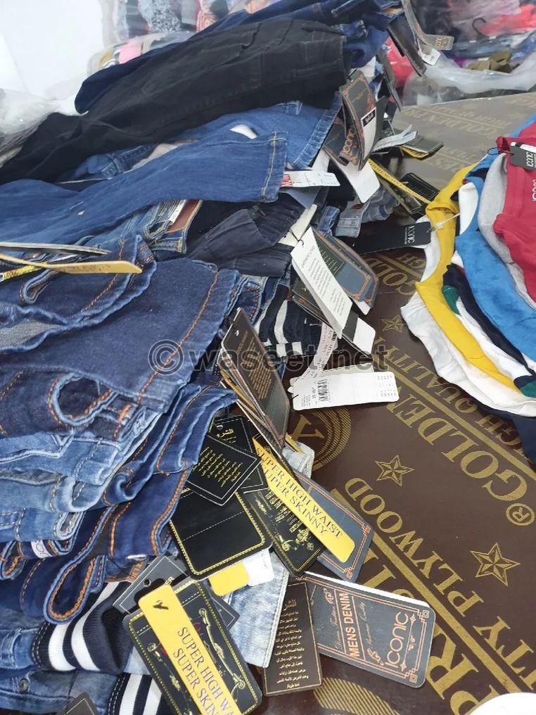 ستوك ملابس جديد للبيع 0
