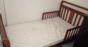 Wooden children's bed