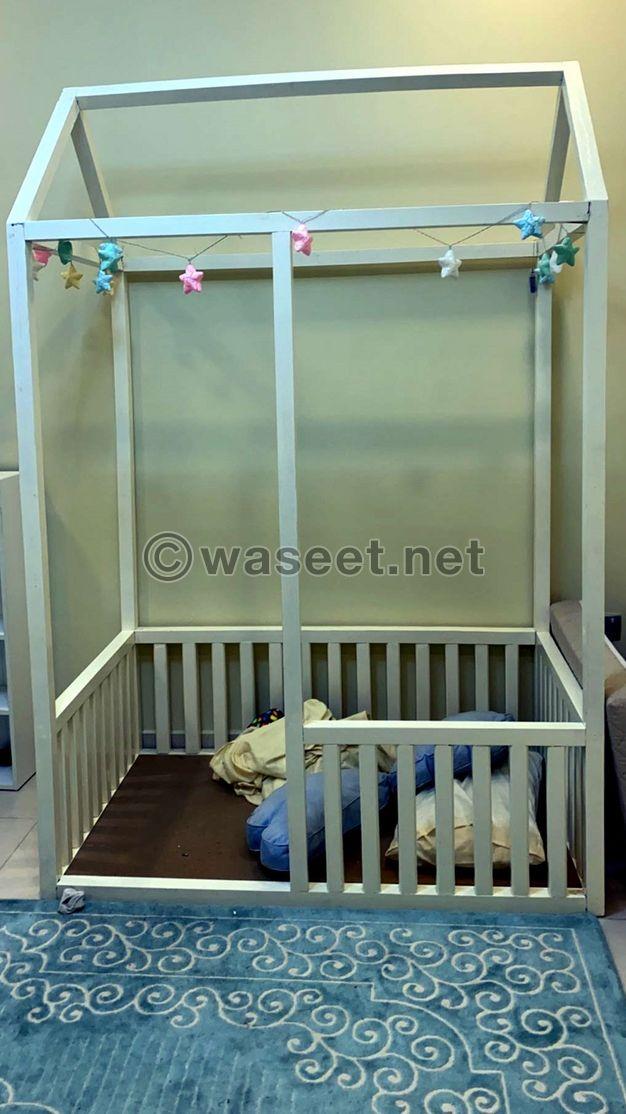 سرير اطفال تفصيل