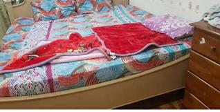 سرير مزدوج 200x200 مع مرتبة 14