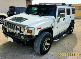 سيارة همر اتش 2 لون أبيض موديل 2006