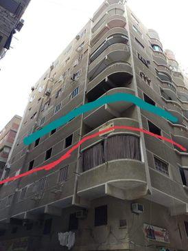 شقة للبيع بمدينة نصر 140م نصف تشطيب دور ثالث