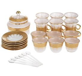 Al Marjan Luxury Tea Bottle Set Of 26 Pieces