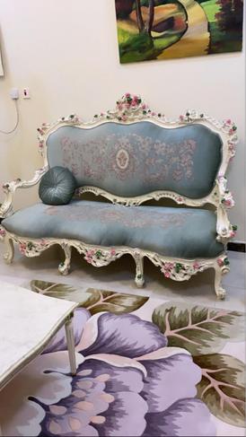 Egyptian damietta sofa set 9