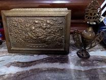 علبة مجوهرات ومكحلة نحاس 200 سنة