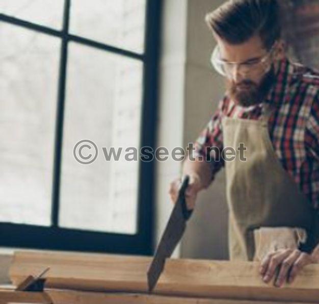 عمل جميع أنواع الصيانة الخشبية
