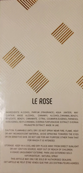 عندي زجاجة عطر le rose