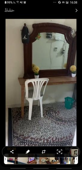 غرفة ماستر فرش فندقي ضمن شقة هادئة نظيفة في هور العنز خلف محطة ابو بكى الصديق بسعر 2400 للتواصل مساء 0552556820
