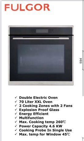 70L Large Electric Oven, 4 Trays