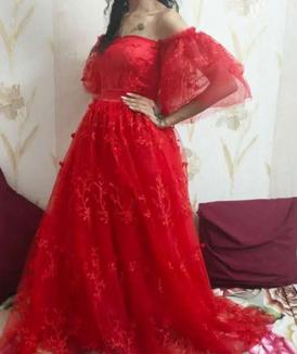 فستان احمر مستعمل 11
