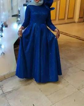 فستان ازرق للبيع