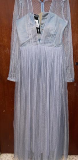 فستان رمادي للسهرة