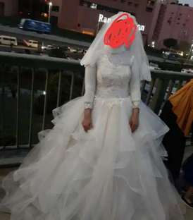 فستان زفاف استعمال مره واحده 14