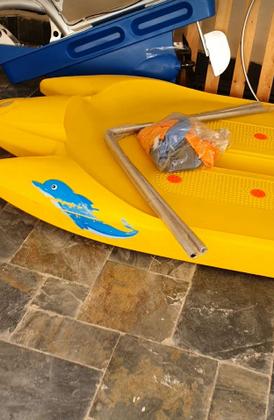 قارب مائي سيكل استخدم مرة وحدة