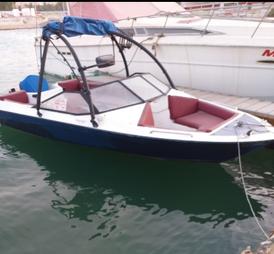 قارب نزهة ١٨ قدم عليه ياماها ١١٥ للبيع
