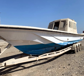 A 38-foot boat for sale