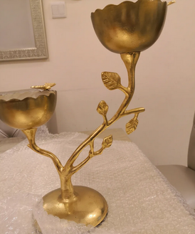 A piece of gold decor from Home Center