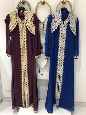 Blue Moroccan caftan