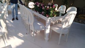 Chairs and tables for parties and events