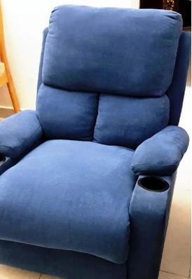 كرسي قماش أزرق