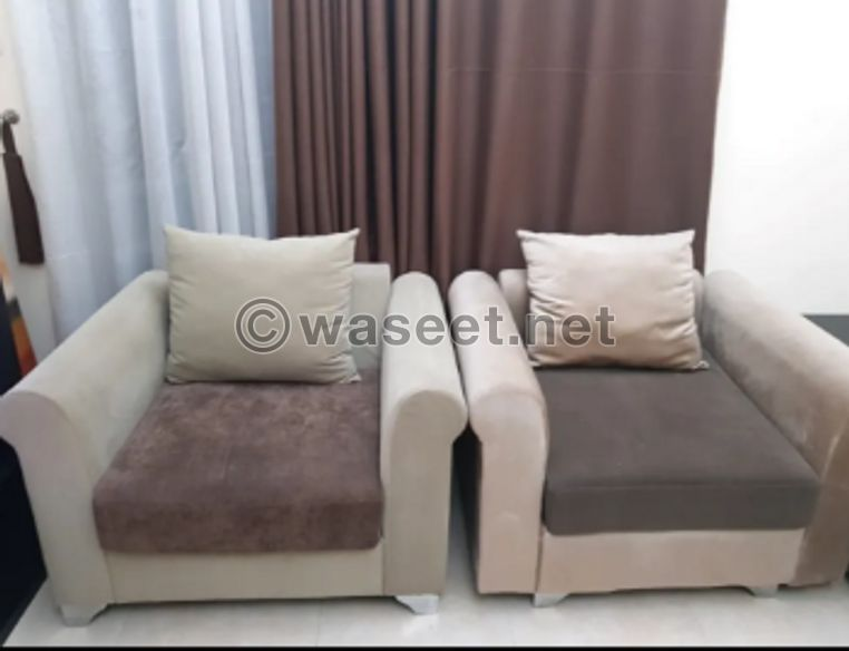 Large sofa + 2 chairs for sale 0