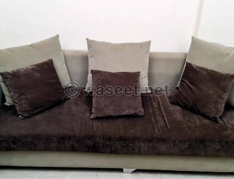Large sofa + 2 chairs for sale 1