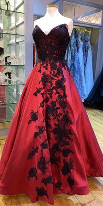 للبيع فستان سهرة احمر جديد
