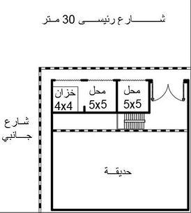 محلات للبيع على ارض 415 م ببرج العرب