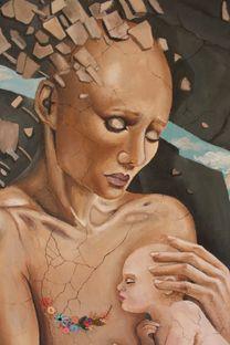 لوحة اكريلك و زيت