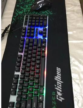 لوحة مفاتيح مع فأرة للألعاب للبيع