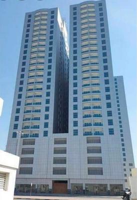 متاح شقة بابراج سيتي تاور بعجمان النعيمية للايجار السنوي