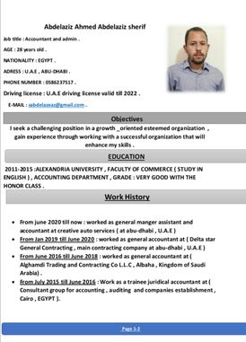 Egyptian Accountant looking for a job