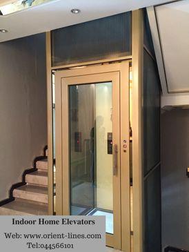 Elevators of villas. Glass jigsaw lifts. Hydraulic elevators